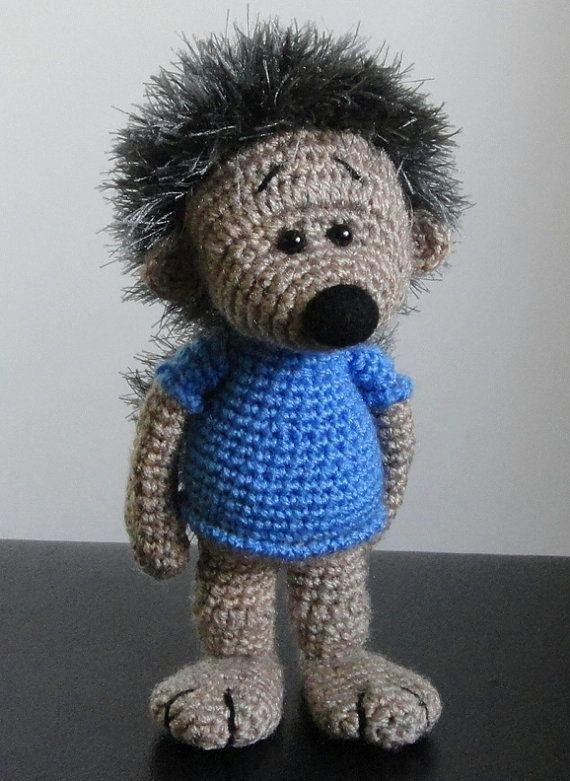 Hedgehog OOAK Stuffed Animals Crochet Soft toy decor Amigurumi Made to order