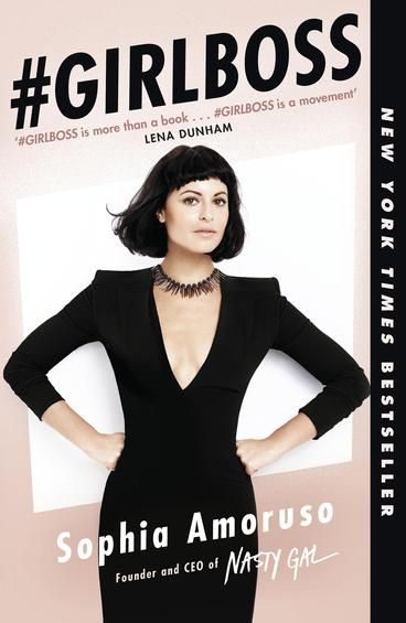 #GIRLBOSS by Sophia Amoruso.  In the space of ten years, Sophia Amoruso has gone from high-school dropout to founder and Executive Chairman of Nasty Gal, one of the fastest-growing retailers in the world. Sophia's never been a typical executive or a typical anything, and she's written #GIRLBOSS for other girls like her: outsiders (and insiders) seeking a unique path to success. Filled with brazen wake-up calls, cunning and frank observations and behind-the-scenes stories from nasty Gal.