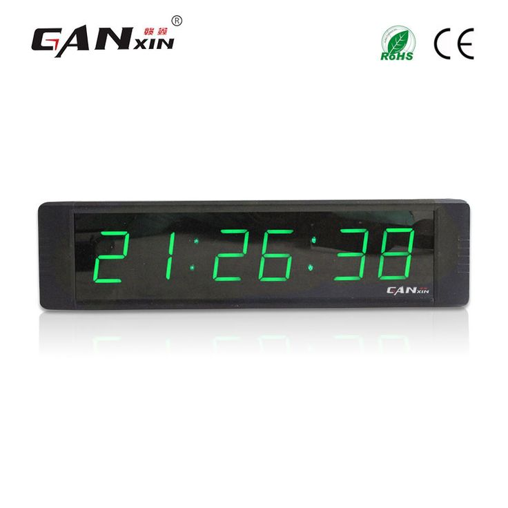 [Ganxin]FREE SHIPPING New Design 5V Led Clock hours minutes seconds count up countdown clock timer