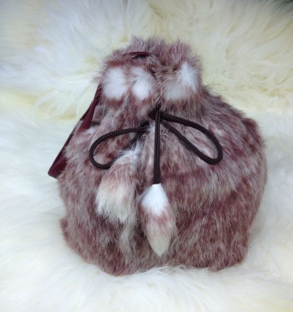 Real rabbit fur pouch. by BeFur on Etsy, €28.50