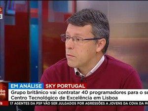 O grupo Sky tem, em Portugal, um Centro Tecnológico de excelência, criado em 2015 depois de a empresa ter descoberto que havia muito talento ao nível das tecnologias em Portugal. A novidade é que a Sky vai contratar mais de 40 pessoas para o seu centro tecnológico e Pedro Geada, responsável tecnológico da Sky em Portugal, esteve na Edição da Manhã.... http://sicnoticias.sapo.pt/programas/edicaodamanha/2017-12-05-40-programadores-no-Centro-Tecnologico-da-Sky-em-Portugal