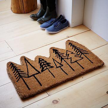 Trees Coir Doormat #westelm