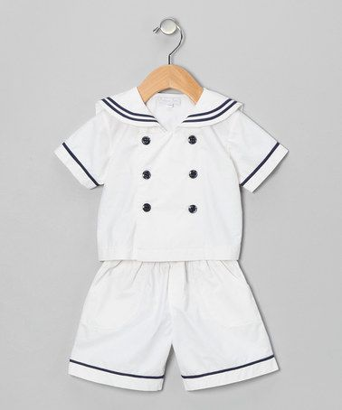Take a look at this White Sailor Shirt & Shorts - Infant & Toddler by Fantaisie Kids on #zulily today!