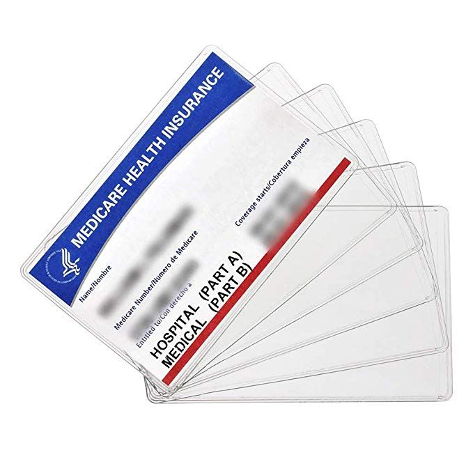 New Medicare Card Holder Protector Sleeves 12mil Clear Pvc Soft Waterproof Medicare Card Protector For New Medicare Card Card Holder Card Sleeves Card Sleeve