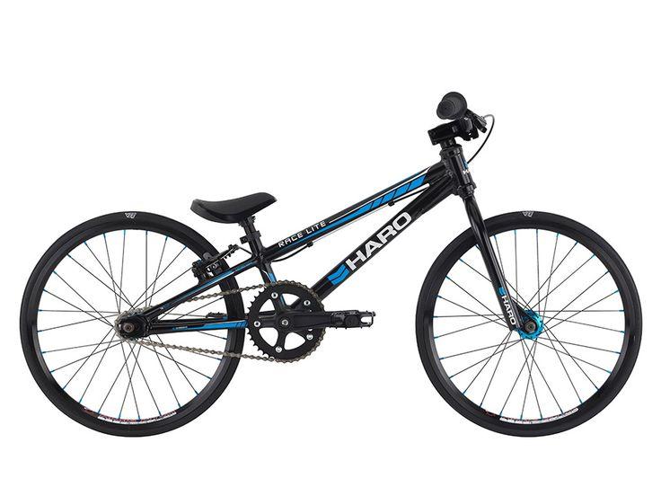 "Haro Bikes ""Race LT Micro Mini"" 2016 BMX Race Bike - Gloss Black | kunstform BMX Shop & Mailorder - worldwide shipping"
