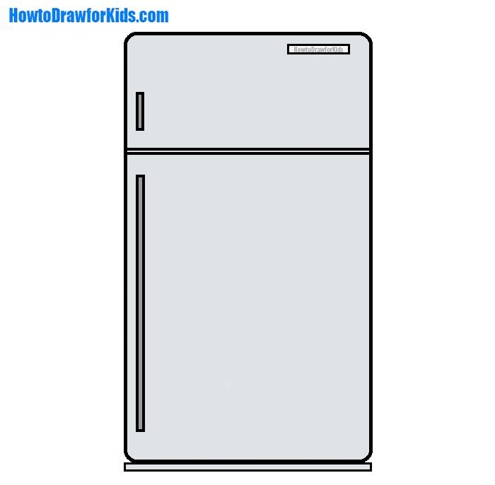 How To Draw A Refrigerator For Kids Old Refrigerator Drawings Drawing For Kids