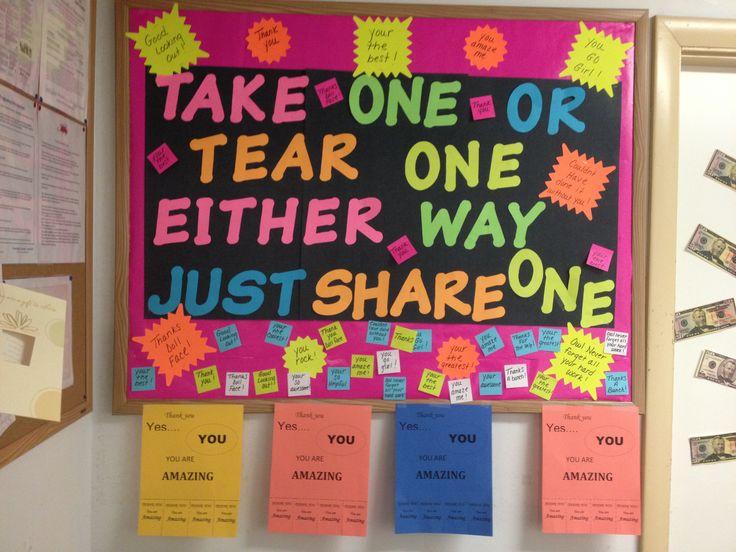 Staff Moral Board Team Work Pinterest Morals Board