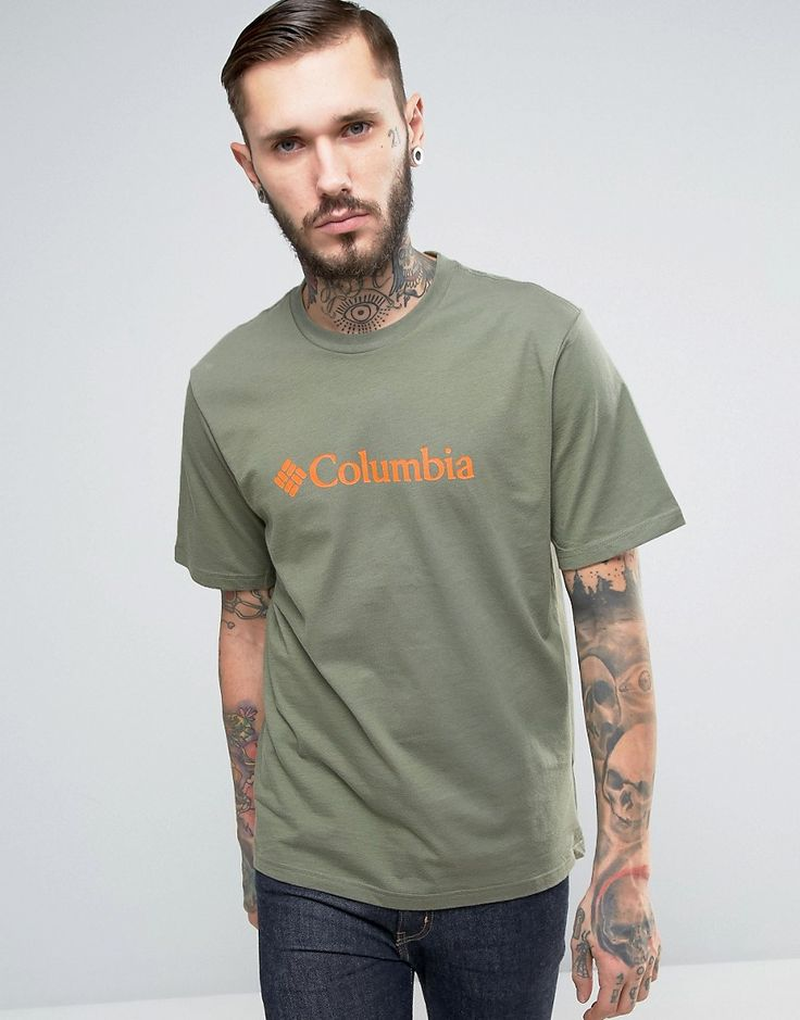 Columbia Basic Logo T-Shirt in Green - Green