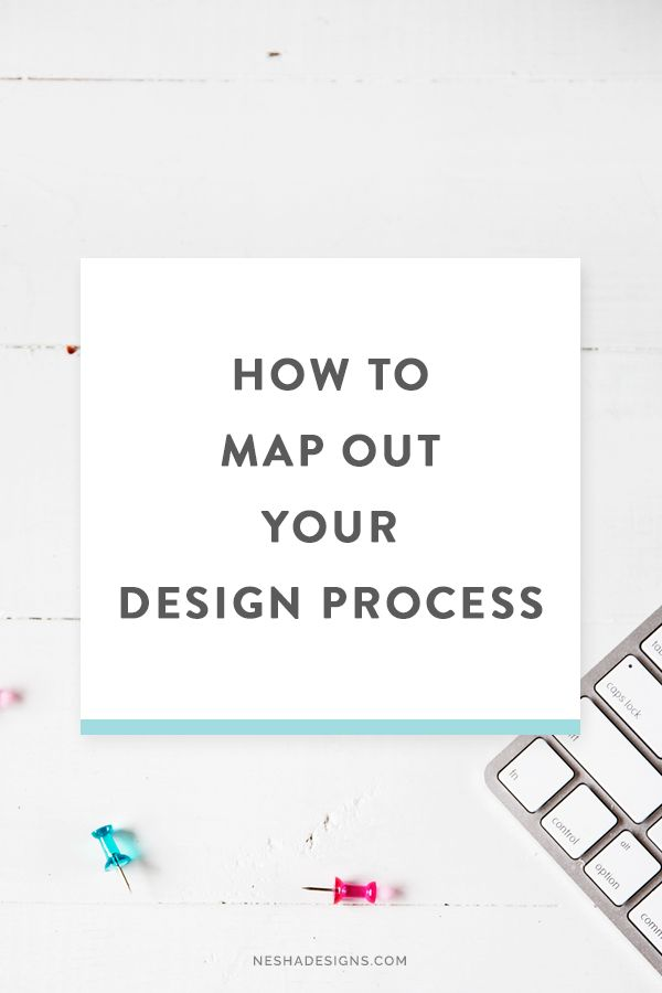 Map out your step-by-step design process