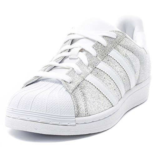 Adidas Superstar Glitter Womens Textile Trainers Silver White 5.5 US adidas  http://www