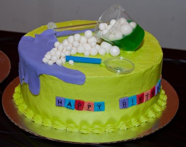 Science cake made by Bridgette Fultz & Robin Blake