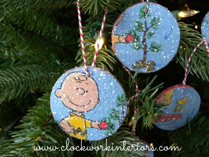 Simple Christmas craft for the kiddos -- charlie brown ornaments by clockworkinteriors.com