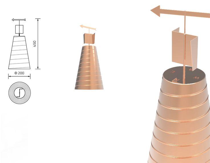 """Proyecto """"Bernacca, estación meteorológica"""" de Giulio Comandini - Mención especial del concurso 'El Cobre y la Casa 2014' en la categoría de estudiantes. #copperindesign"""