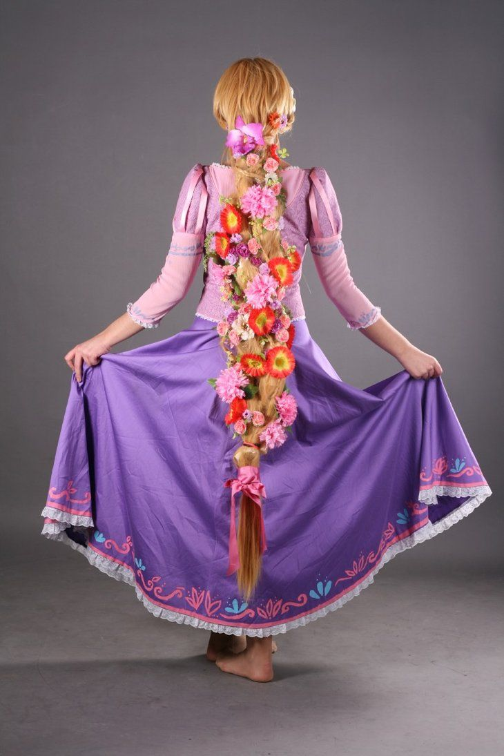 Disney Tangled Rapunzel Cosplay costume. Her hair is perfect!