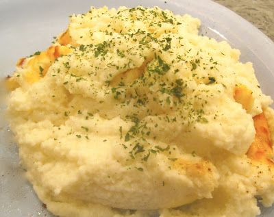 Cheesy Mashed Cauliflower - very healthy, very yummy, very easy!!