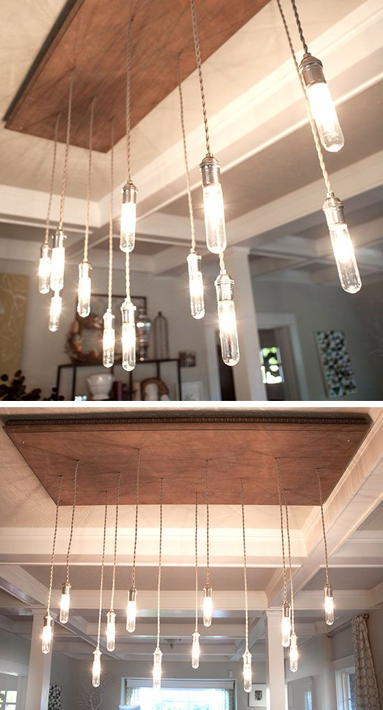 Industrial Edison Style Chandelier | 27 DIY Rustic Decor Ideas for the Home | DIY Rustic Home Decorating on a Budget