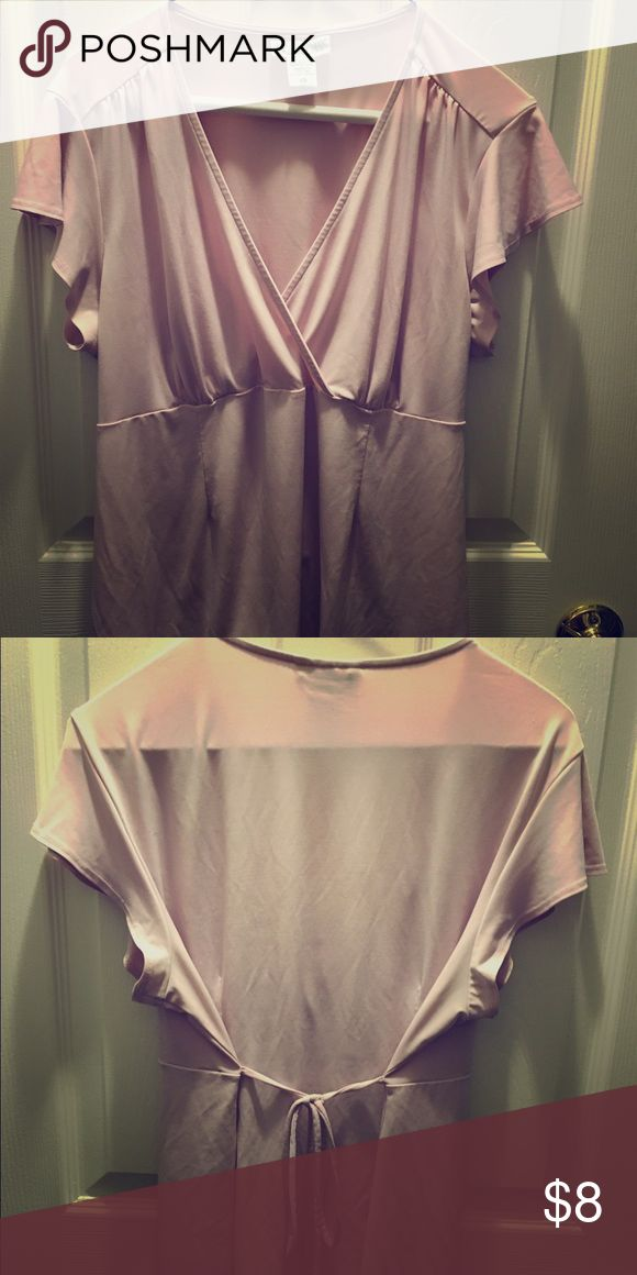 Woman's maternity top Woman's pink tie back maternity top Motherhood Maternity Tops