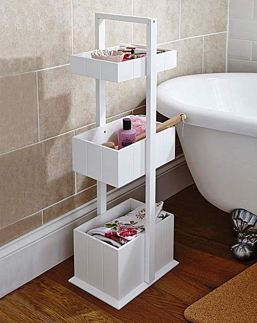 3 Tier Tongue and Groove Bathroom Caddy | House of Bath