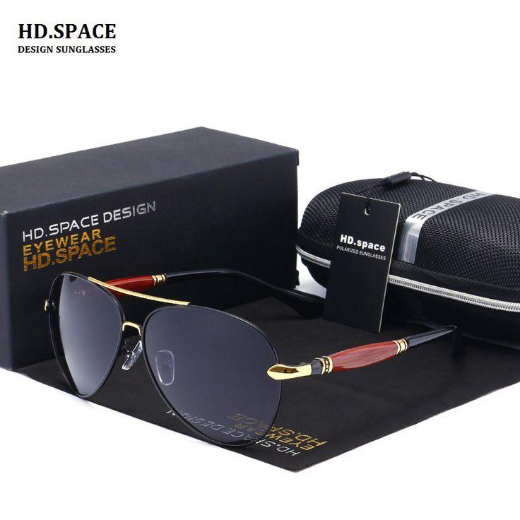 HD.space Sunglasses Men Polarized UV400 Eyes Protect Coating Sun Glasses Pilot Wholesale gafas de sol hombre men Fishing glasses #Affiliate