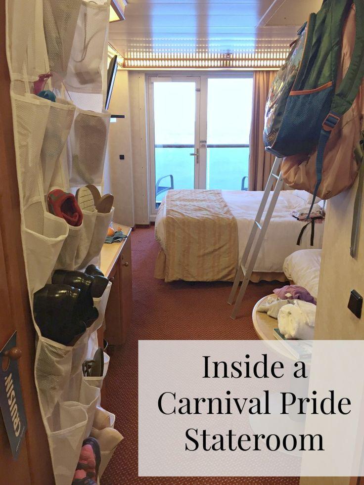 Inside a Carnival Pride Stateroom