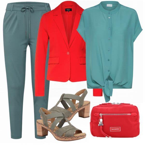 Sommer-Outfits:  VILA Blusenshirt bei FrauenOutfits.de #mode #damenmode #frauenm…