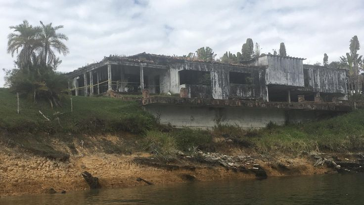 One of many Abandoned Pablo Escobars houses this one located in Guatape Colombia it was blown up by the Cali Cartel.