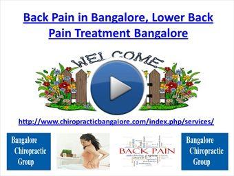 Back Pain in Bangalore, Lower Back Pain Treatment Bangalore | myBrainshark