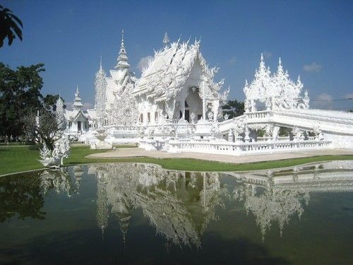 Wat Rong Khun is a Temple in Chian Rai, Thailand. #travel #monasteries