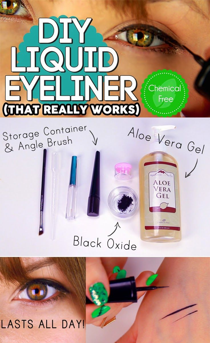 My favorite DIY liquid eyeliner. Visit our blog to view the recipe! I personally use this liquid eyeliner each time I apply makeup. Its so easy and saves a ton of money!