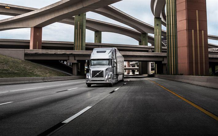 Descargar fondos de pantalla Volvo VNL 670, 2016, camiones Pesados, entrega de mercancías, transporte de carga, sueco, camiones, Volvo