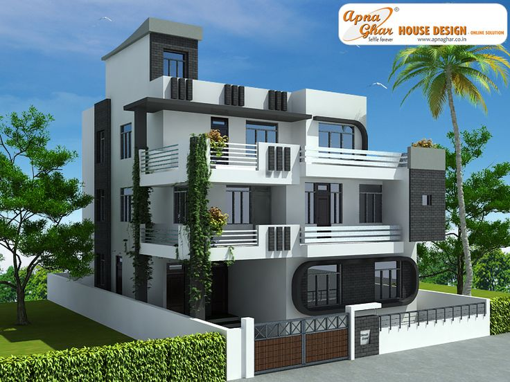 7 bedroom modern triplex 3 floor house design area for Modern 3 bedroom house plans and designs