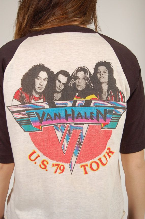 Vintage 1970s VAN HALEN Tour Tshirt 1979 Concert by LotusvintageNY, $125.00