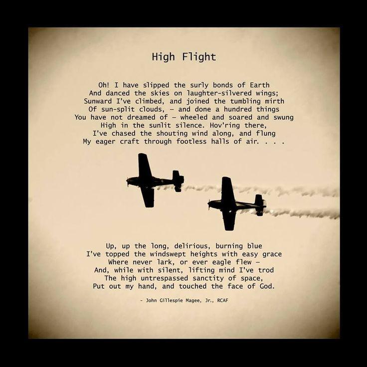 High Flight, a favorite poem aviationquotestheaviator