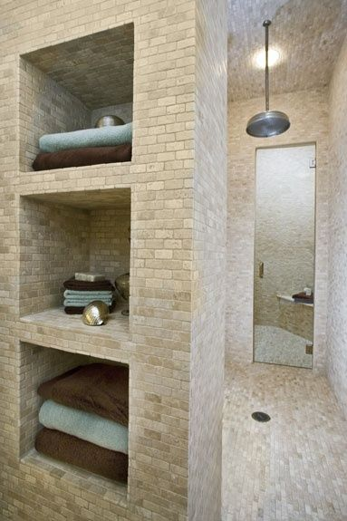 Walk-in shower with storage by brookeO