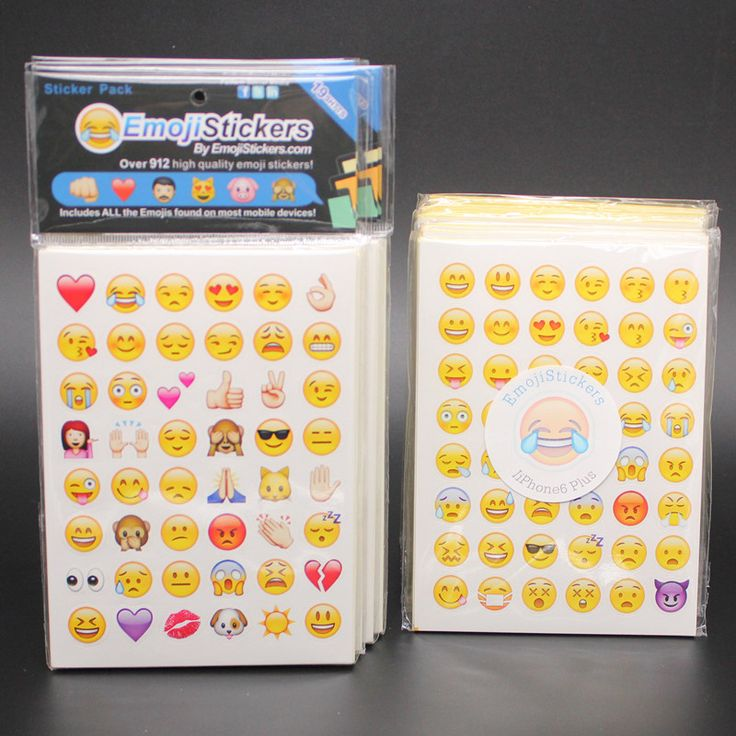 2016new 19/20pieces/lot  Die Cut Emoji Smile Sticker for for notebook, message StickersHigh Quality Vinyl*funny*creative
