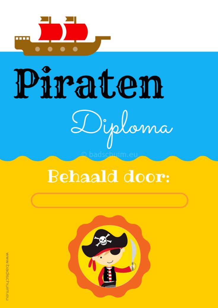 In dit blogbericht vind je een compleet kinderfeestje met het thema Piraten: Een spannende toch met piratenspelletjes, een verborgen schat en een piraten diploma (wat gratis is downloaden). Dit is het Piraten diploma voor jongens. Er is er ook eentje voor meisjes!