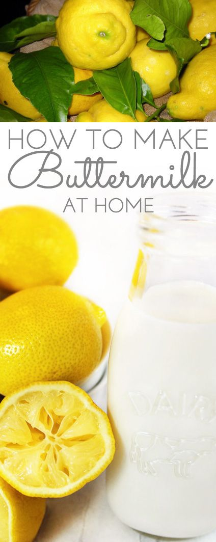 How to Make Buttermilk: simple recipe to make buttermilk substitutes at home using ingredients you probably already have in your pantry.
