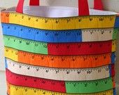 Wooden Rulers Fully Insulated Lunch Tote  Eco- Friendly and Washable