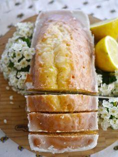 Lemon Drizzle Cake ~ You start with a basic sponge cake (eggs, butter, flour, etc), then drizzle it into lemon heaven