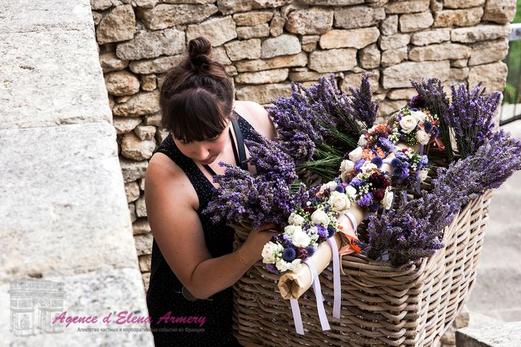 Лавандовая свадьба в Провансе, свадебная церемония, свадебный декор, декор в стиле прованс. Красивые свадьбы во Франции от Agence d'Elena Armery - Paris