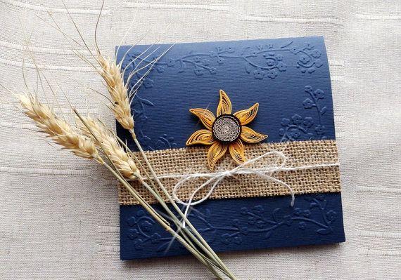 Einladung Hochzeit Blau