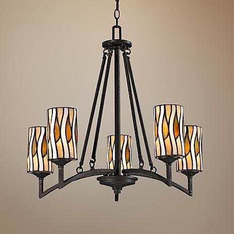 "$490.91 Candella Collection 26"" Wide Dale Tiffany Chandelier"