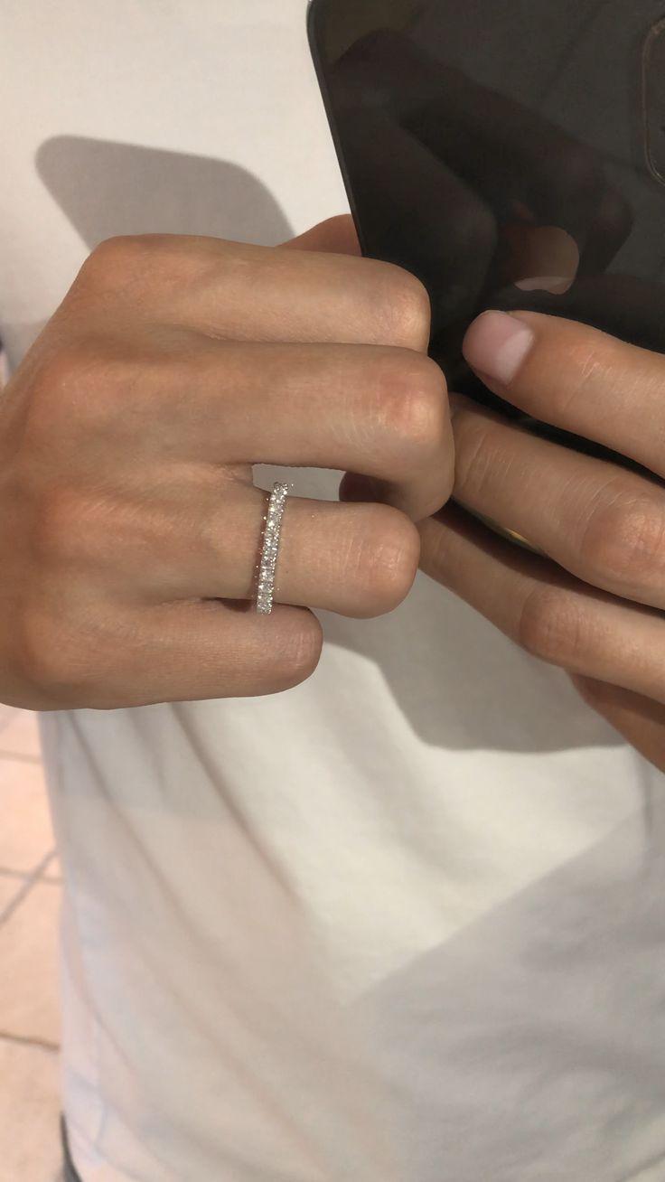 2mm Diamond Wedding Band 3/4 Eternity