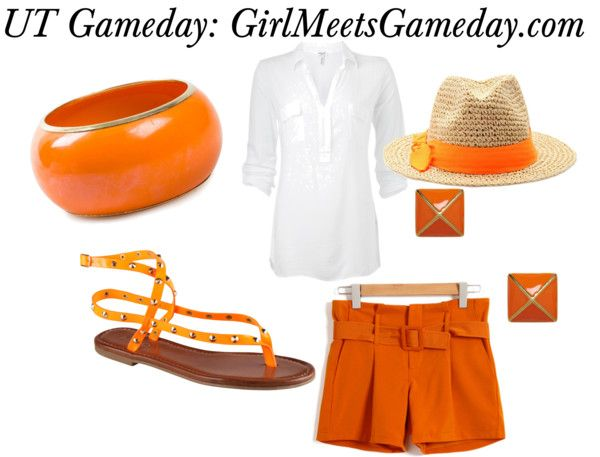 University of Tennessee Gameday Vols Game day outfit dress www.girlmeetsgameday.com