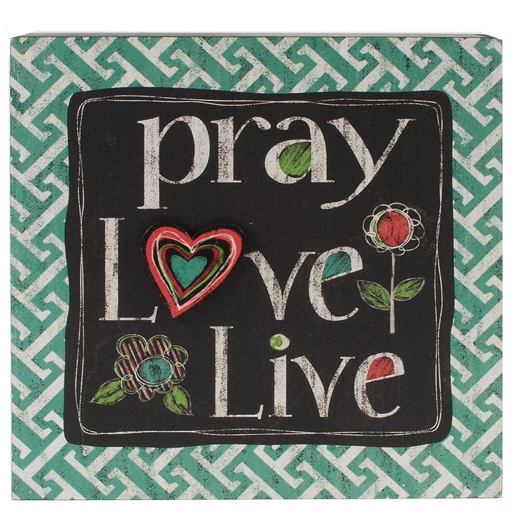 Reside At 2727 Accent Wall Program: Pray/Love/Live Box Wall Décor