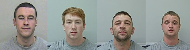 Violent kidnap gang jailed for over 50 years http://www.cumbriacrack.com/wp-content/uploads/2017/04/Damian-Yates-Danny-Noon-David-Lee-and-John-Edwards.jpg Four men who brutally assaulted one man and kidnapped another in Morecambe and Lancaster have been jailed for a total of more than 50 years.    http://www.cumbriacrack.com/2017/04/28/violent-kidnap-gang-jailed-50-years/