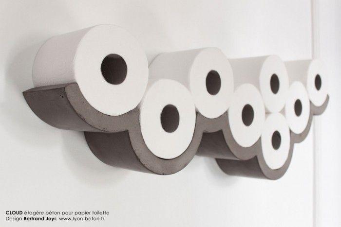 Cloud: een wolk van wc-papier [Ontwerp van Bertrand Jayr].
