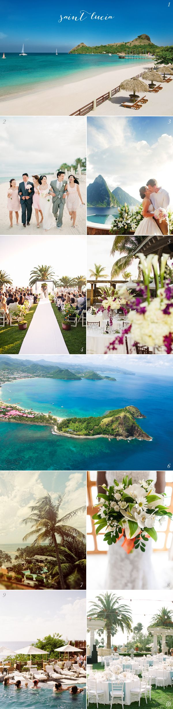 Get inspired: Check out this dreamy Saint Lucia destination #wedding!