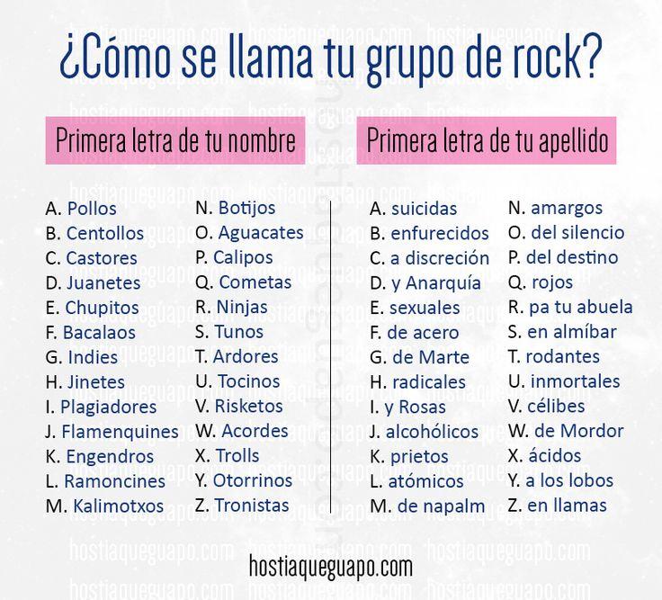 https://flic.kr/p/FWAuUw | ¿Cómo se llama tu grupo de rock? | Juegos para compartir en las redes. Hostiaqueguapo.com