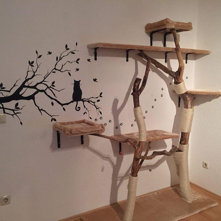 de 20 b sta id erna om selber bauen kratzbaum p pinterest kratzbaum selber bauen kratzbaum. Black Bedroom Furniture Sets. Home Design Ideas
